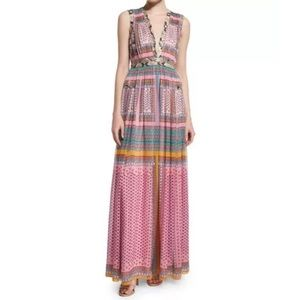 Diane Von Furstenberg Lelani Silk Long Maxi Dress